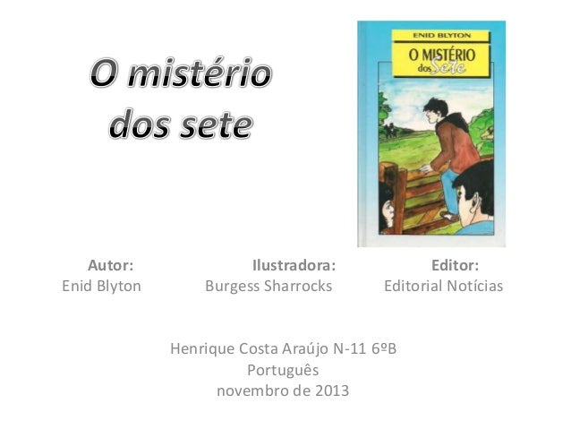 Autor: Enid Blyton  Ilustradora: Burgess Sharrocks  Editor: Editorial Notícias  Henrique Costa Araújo N-11 6ºB Português n...