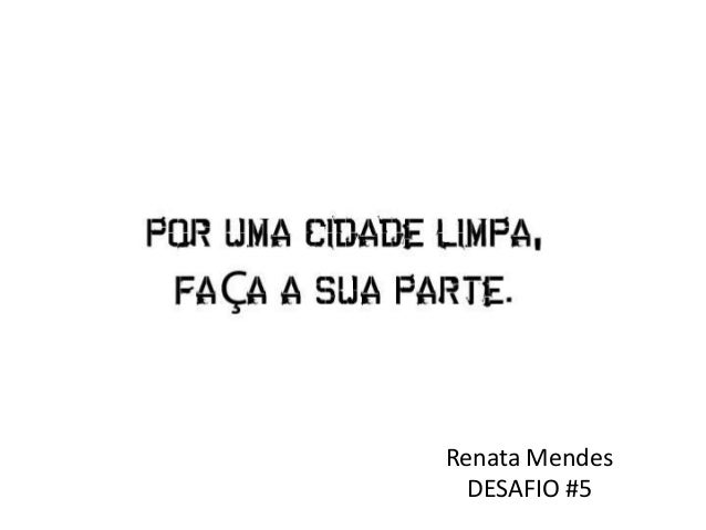 Renata Mendes DESAFIO #5
