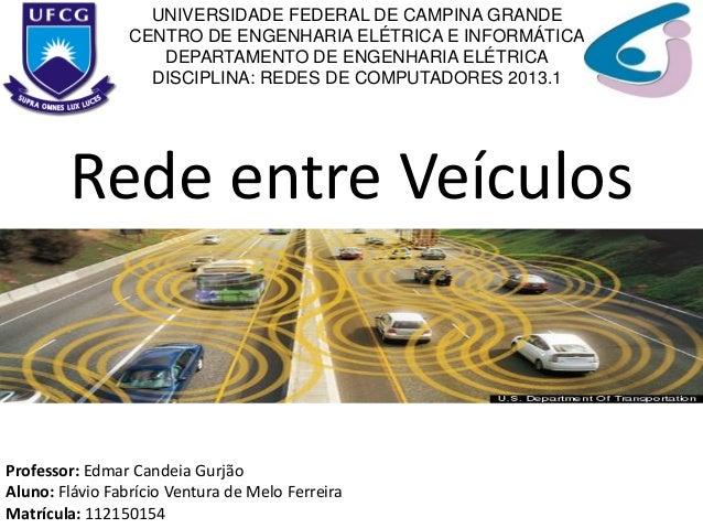 Rede entre Veículos UNIVERSIDADE FEDERAL DE CAMPINA GRANDE CENTRO DE ENGENHARIA ELÉTRICA E INFORMÁTICA DEPARTAMENTO DE ENG...