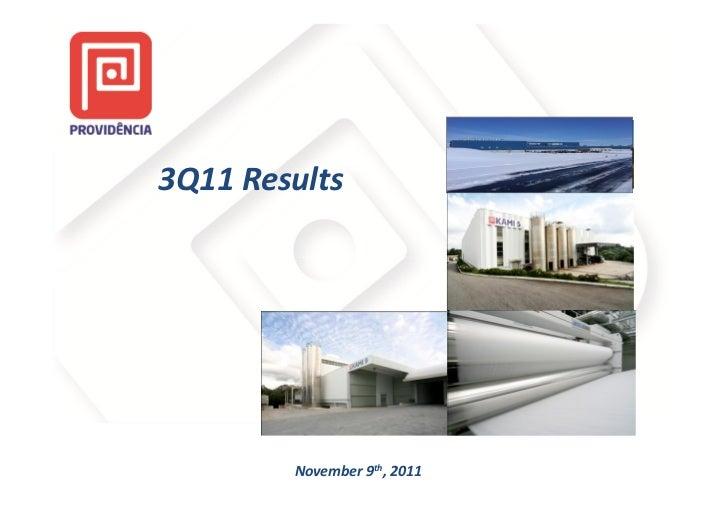 3Q11 Results        November 9th, 2011