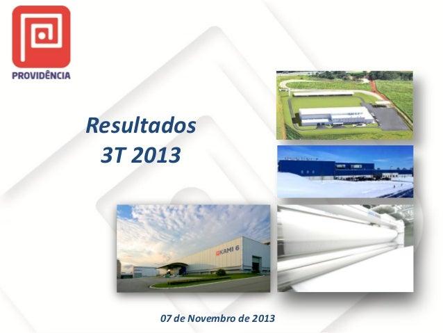Resultados 3T 2013  07 de Novembro de 2013