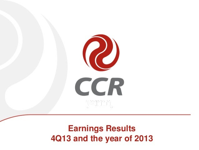 Earnings Results 4Q13 and the year of 2013