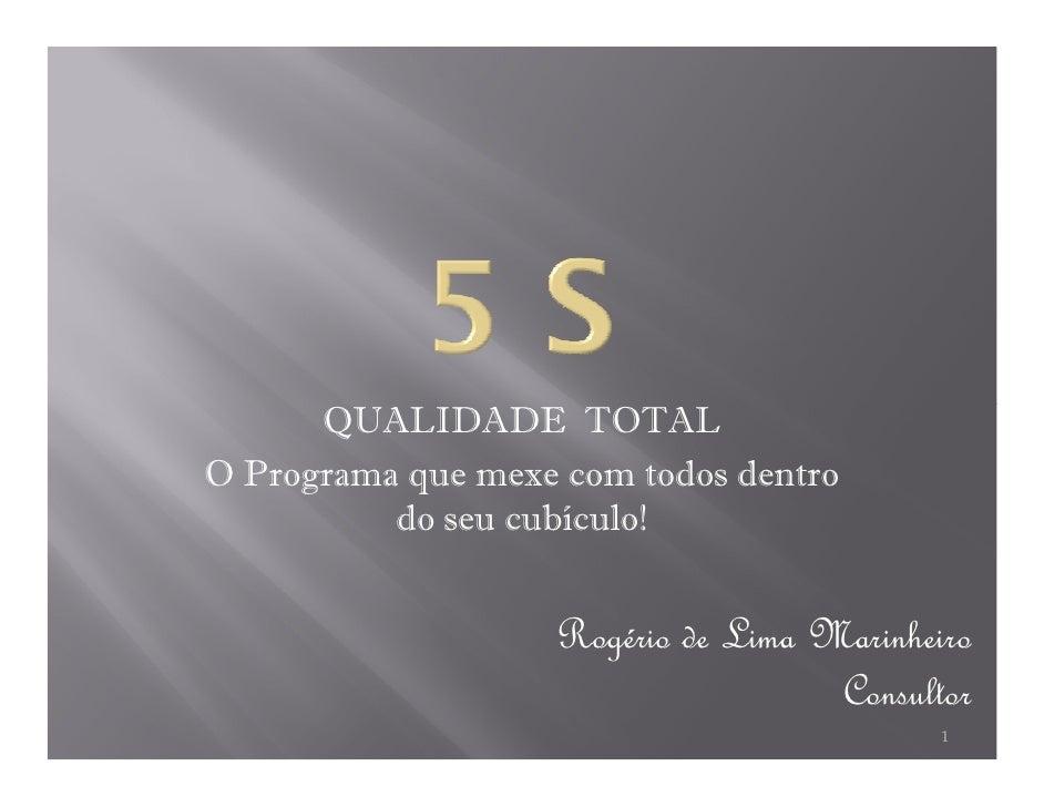 5S Presentation by Rogerio Marinheiro