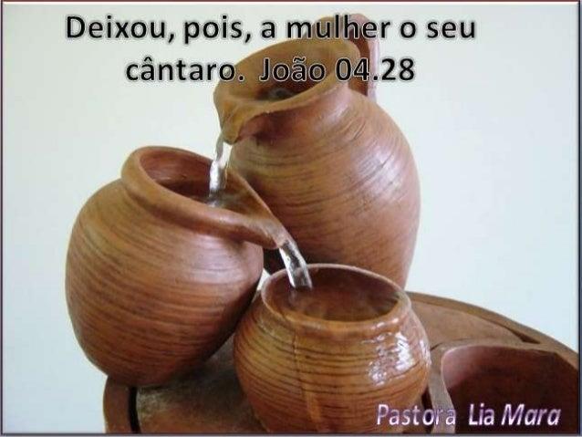 Essa parte me chamou atenção,  quando Jesus teve um diálogo  com a mulher samaritana, que  estava no poço de Jacó, para  b...