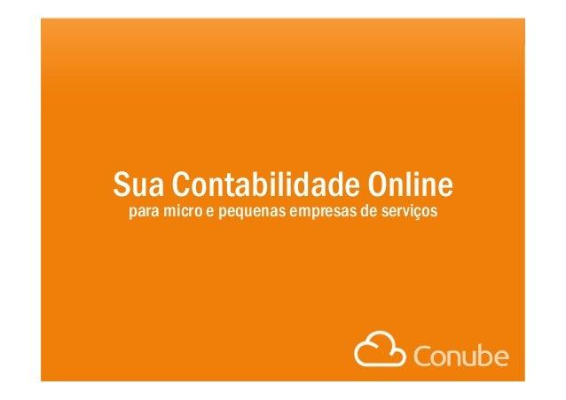 Sua Contabilidade Online  para micro e pequenas empresas de serviços