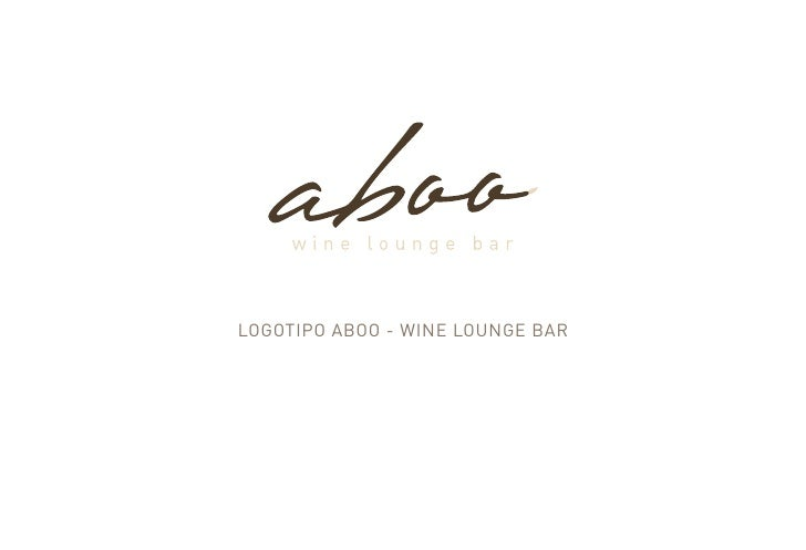 LOGOTIPO ABOO - wIne LOunGe BAr