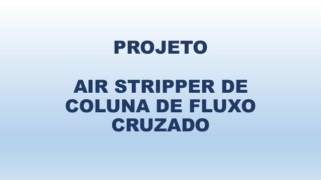PROJETO  AIR STRIPPER DE  COLUNA DE FLUXO  CRUZADO