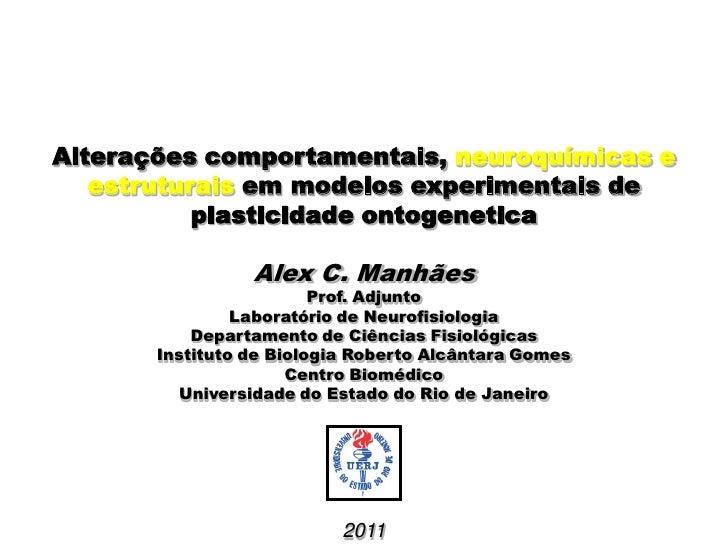 Alterações comportamentais, neuroquímicas e   estruturais em modelos experimentais de           plasticidade ontogenetica ...