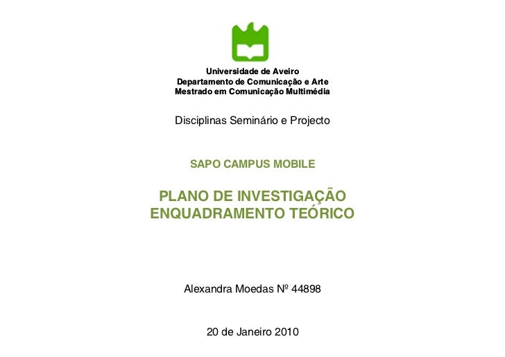 Universidade de Aveiro                         Aveiro  Departamento de Comunicação e Arte  Mestrado em Comunicação Multimé...