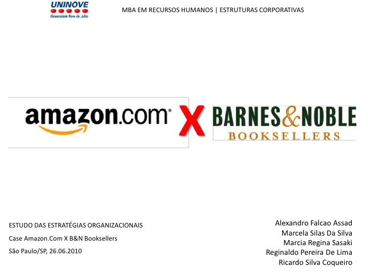 amazon vs barnes noble essay Essay paper on barnes & noble company introduction of organization in 1873 the company was founded when charles m barnes started a book business from his home in wheaton, illinois.