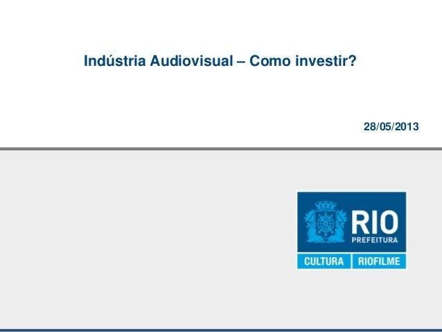 28/05/2013Indústria Audiovisual – Como investir?
