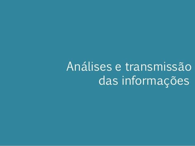Análises e transmissão das informações