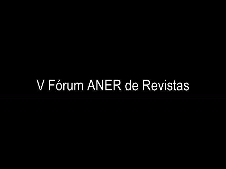 V Fórum ANER de Revistas