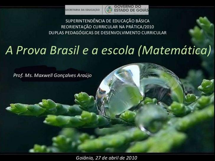 SUPERINTENDÊNCIA DE EDUCAÇÃO BÁSICA REORIENTAÇÃO CURRICULAR NA PRÁTICA/2010 DUPLAS PEDAGÓGICAS DE DESENVOLVIMENTO CURRICUL...