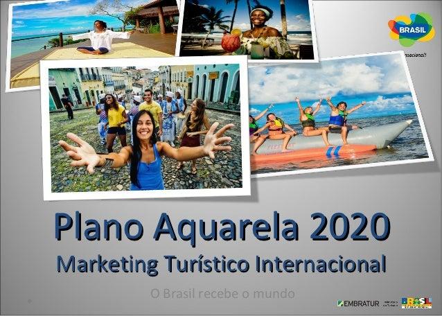 Plano Aquarela 2020Marketing Turístico Internacional         O Brasil recebe o mundo