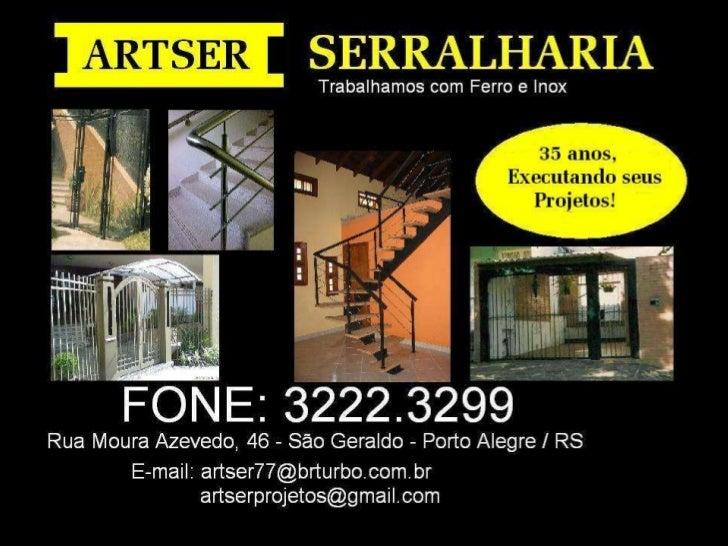 Apresentação - ARTSER SERRALHARIA