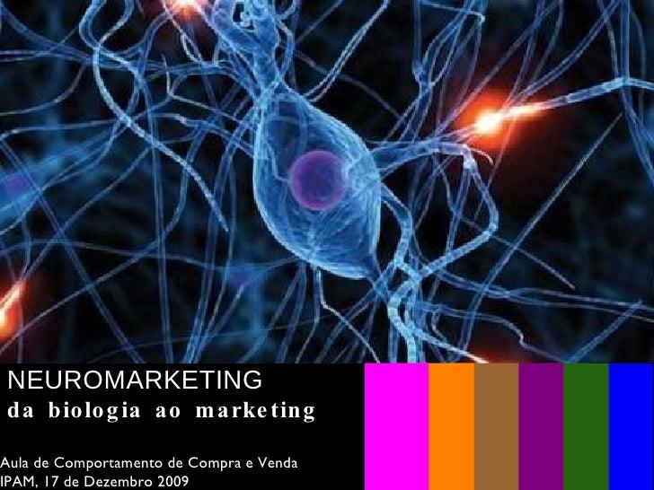Apresentação Aula Neuromarketing