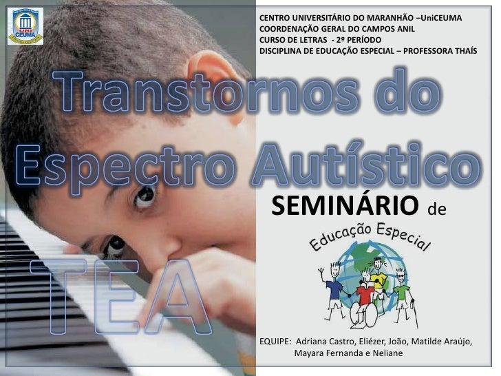 CENTRO UNIVERSITÁRIO DO MARANHÃO –UniCEUMA<br />COORDENAÇÃO GERAL DO CAMPOS ANIL<br />CURSO DE LETRAS  - 2º PERÍODO<br />D...