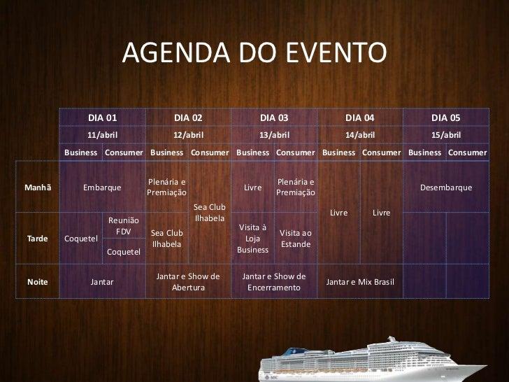 AGENDA DO EVENTO<br />
