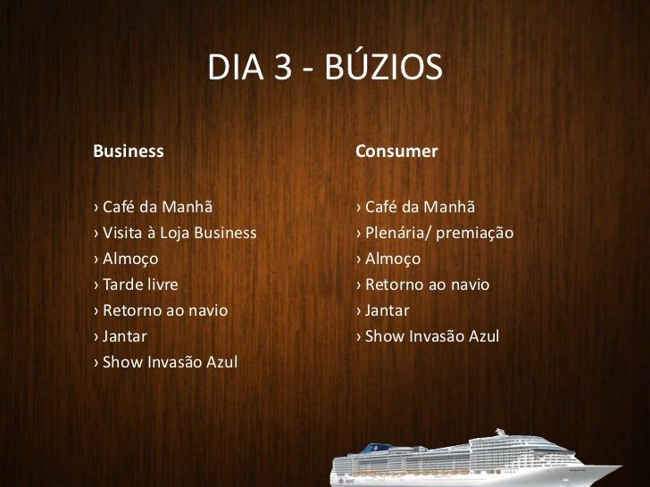 Restaurantes</li></li></ul><li>JANTAR<br />Local: L'Approdo e La Caravela<br />Cardápio: a definir<br />