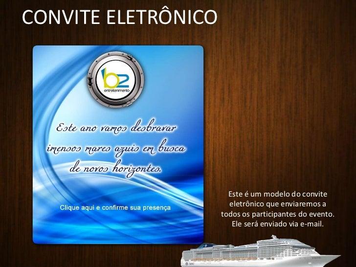 CONVITE ELETRÔNICO<br />Este é um modelo do convite eletrônico que enviaremos a todos os participantes do evento. Ele será...