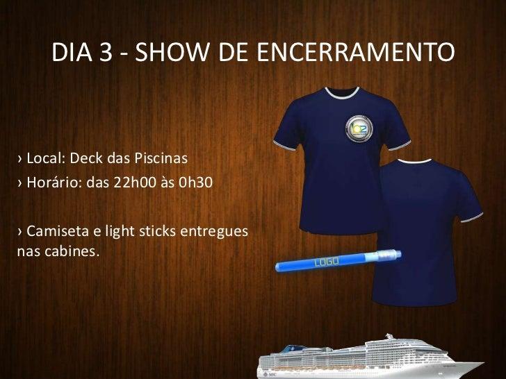 Show de Abertura</li></ul>Consumer<br /><ul><li> Café da Manhã