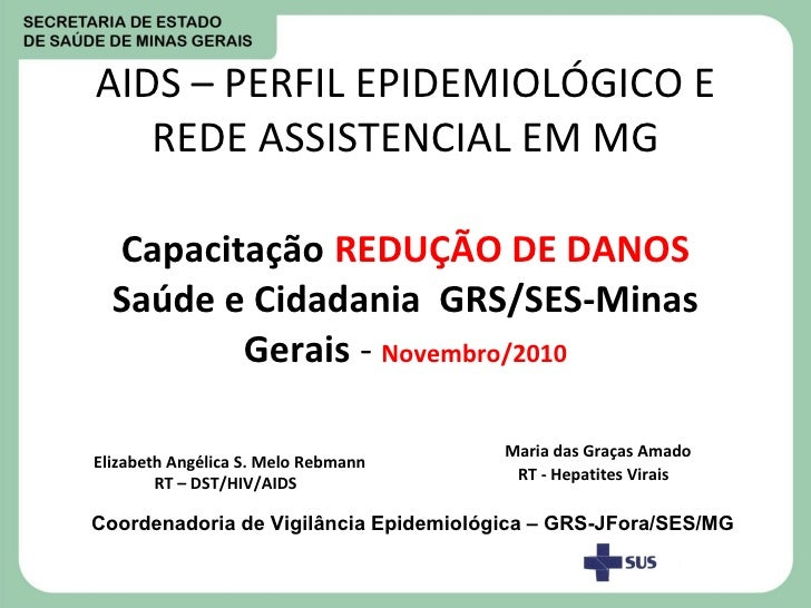 AIDS – PERFIL EPIDEMIOLÓGICO E REDE ASSISTENCIAL EM MG Capacitação   REDUÇÃO DE DANOS   Saúde e Cidadania   GRS/SES-Minas ...