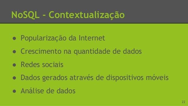 NoSQL - Contextualização 23 Fonte: http://www.bbc.com/portuguese/noticias/2015/04/150429_divulgacao_pnad_ibge_lgb