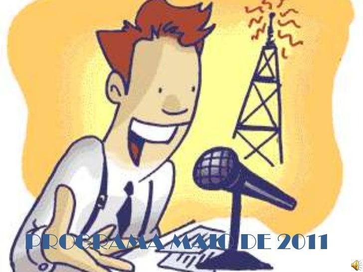 PROGRAMA MAIO DE 2011