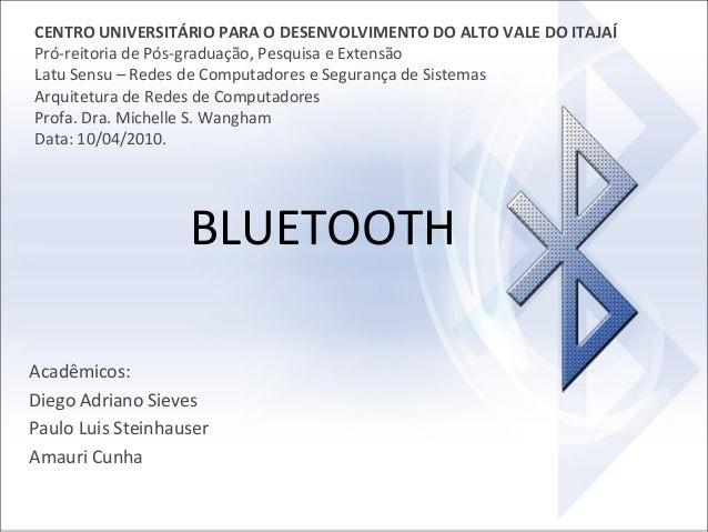 CENTRO UNIVERSITÁRIO PARA O DESENVOLVIMENTO DO ALTO VALE DO ITAJAÍ Pró-reitoria de Pós-graduação, Pesquisa e Extensão Latu...