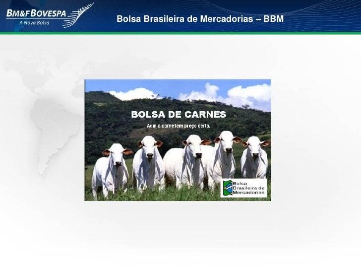 BOLSA DE CARNES Bolsa Brasileira de Mercadorias – BBM