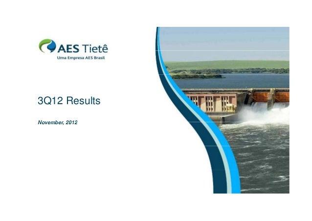 3Q12 R Results lt November, November 2012