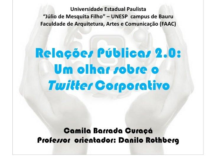 """Universidade Estadual Paulista """"Júlio de Mesquita Filho"""" – UNESP  campus de Bauru Faculdade de Arquitetura, Artes e Comuni..."""