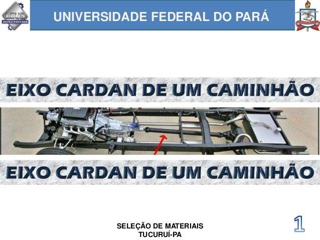 UNIVERSIDADE FEDERAL DO PARÁ SELEÇÃO DE MATERIAIS TUCURUÍ-PA