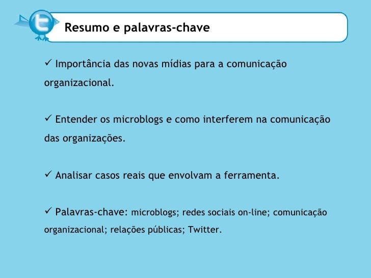 Os microblogs como ferramenta de comunicação organizacional. Slide 2