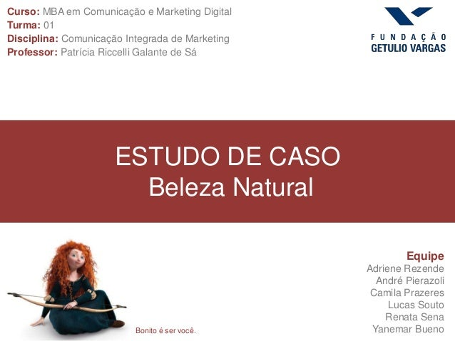 Curso: MBA em Comunicação e Marketing DigitalDigitalTurma: 01Disciplina: Comunicação Integrada de MarketingProfessor: Patr...