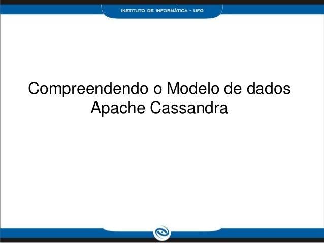 Compreendendo o Modelo de dados       Apache Cassandra