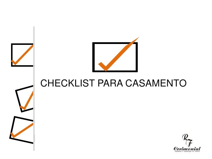 CHECKLIST PARA CASAMENTO<br />