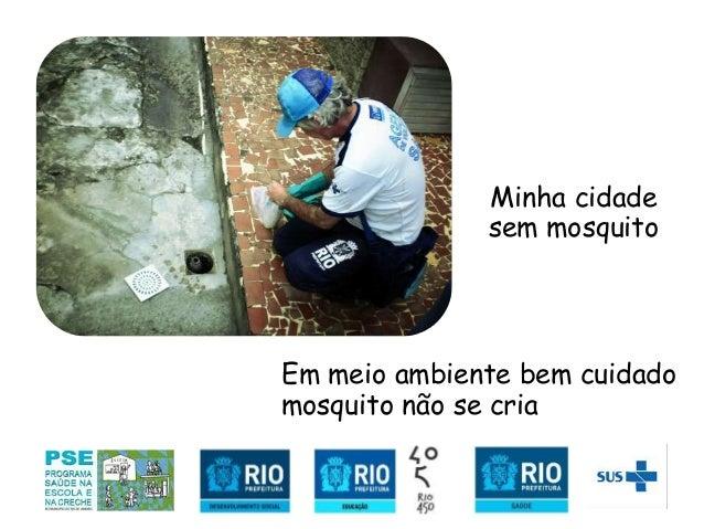 S/ Em meio ambiente bem cuidado mosquito não se cria Minha cidade sem mosquito