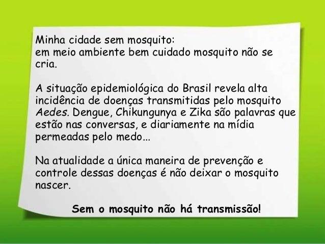 Apresentação  Cidade sem Mosquito  Slide 2