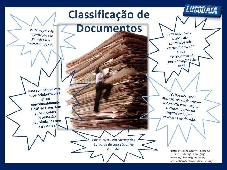 Classificação de Documentos    Por minuto, são carregadas     60 horas de conteúdos no             Youtube.            Fon...