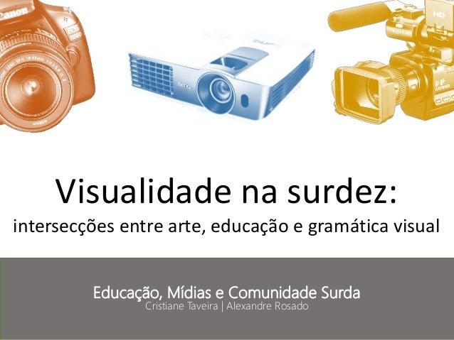 Visualidade na surdez: intersecções entre arte, educação e gramática visual Educação, Mídias e Comunidade Surda Cristiane ...