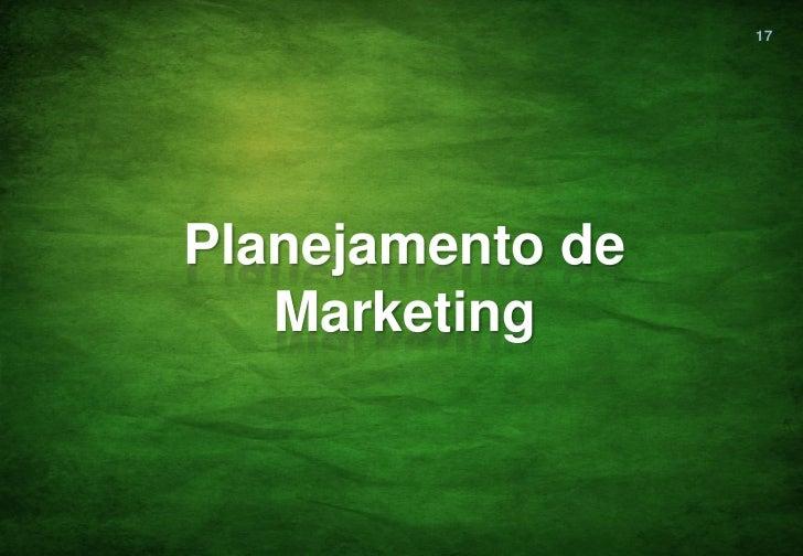 17Planejamento de   Marketing