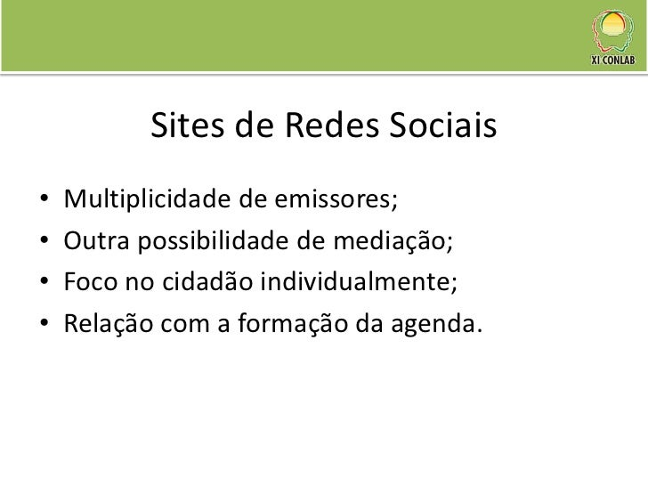 Agendamento e Sites de Redes Sociais: um novo lugar para o cidadão? Slide 3
