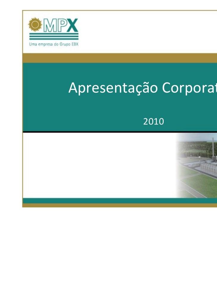 02-03-10Apresentação Corporativa          2010
