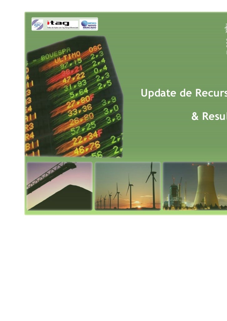 Update de Recursos Naturais         & Resultados 3T09