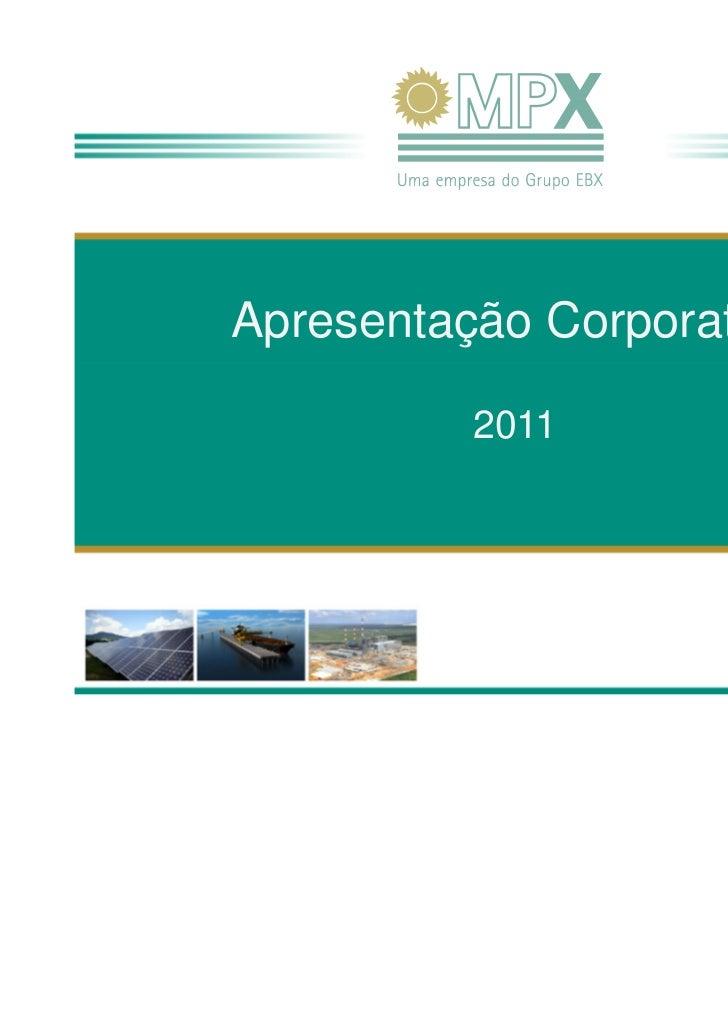 05102011Apresentação Corporativa          2011