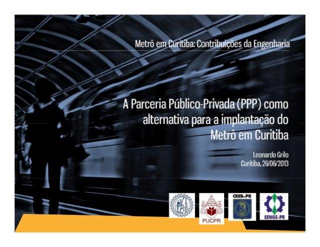 PARCERIA PÚBLICO-PRIVADA I TERCEIRIZAÇÃO