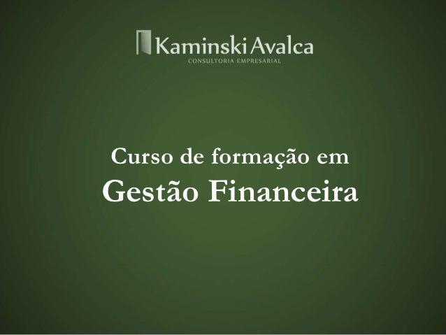 Curso de formação emGestão Financeira