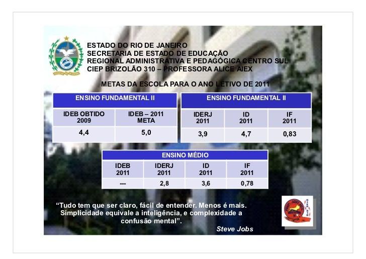 ESTADO DO RIO DE JANEIRO         SECRETARIA DE ESTADO DE EDUCAÇÃO         REGIONAL ADMINISTRATIVA E PEDAGÓGICA CENTRO SUL ...